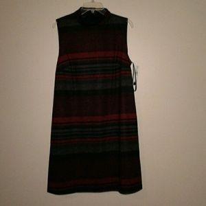 NWT Tank Dress Black Red Gray Sz XL